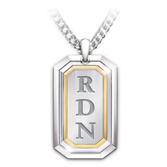 Luxury Dog Tag Necklace Personalized Name Gifts Bradford v2