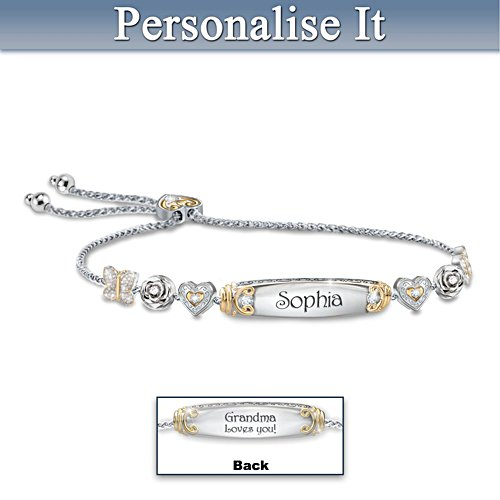Granddaughter Bolo Bracelet With Two Personalised Engravings