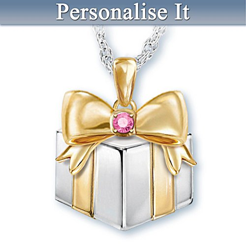 """Grandma's Greatest Gift"" Personalised Birthstone Pendant"
