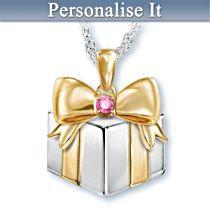 """Grandma's Greatest Gift"" Personalised Birthstone Pendant"
