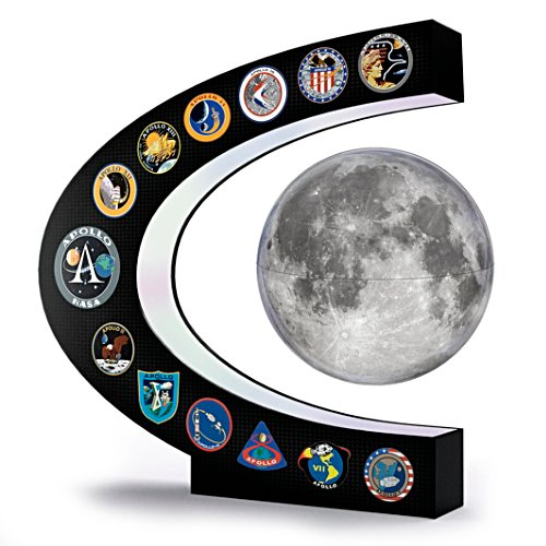 Apollo Missions Illuminated Levitating Moon Sculpture