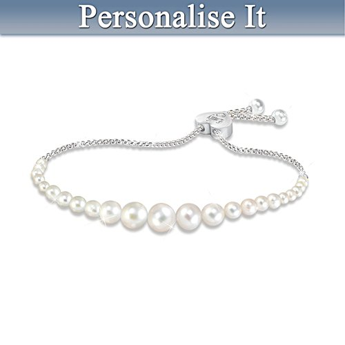 """Daughter Pearls Of Wisdom"" Personalised Diamond Bracelet"