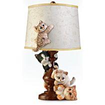 Cat-Tastrophe Sculpted Lamp