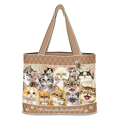 "Kayomi Harai ""Cats With Purr-sonality"" Quilted Tote Bag"