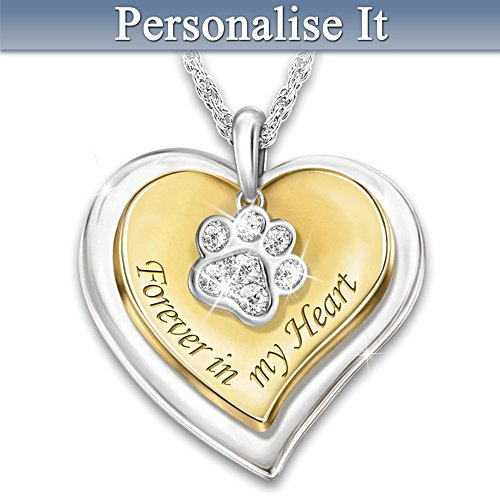"""Forever In My Heart"" Personalised Pet Remembrance Necklace"