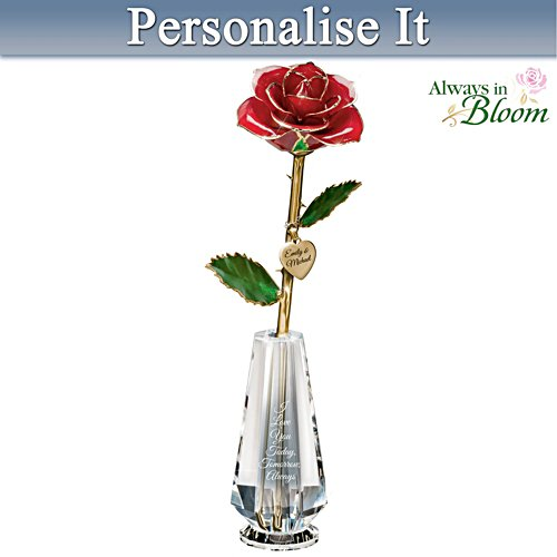 """""""I Love You Today, Tomorrow, Always"""" Real Rose Centrepiece"""