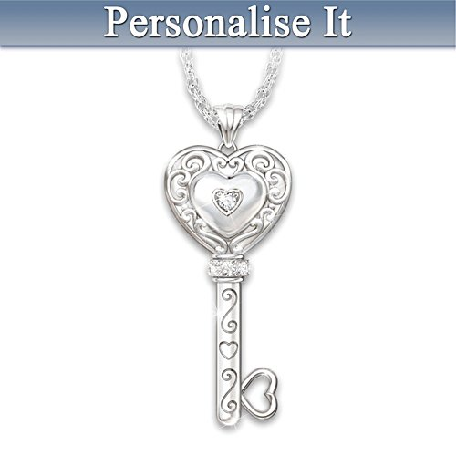 Granddaughter Personalised Diamond Pendant Necklace