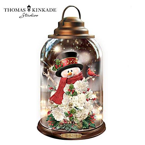 "Thomas Kinkade ""White Christmas"" Illuminated Musical Lantern"