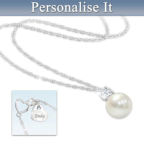 """Precious Daughter"" Personalised Cultured Pearl Necklace"