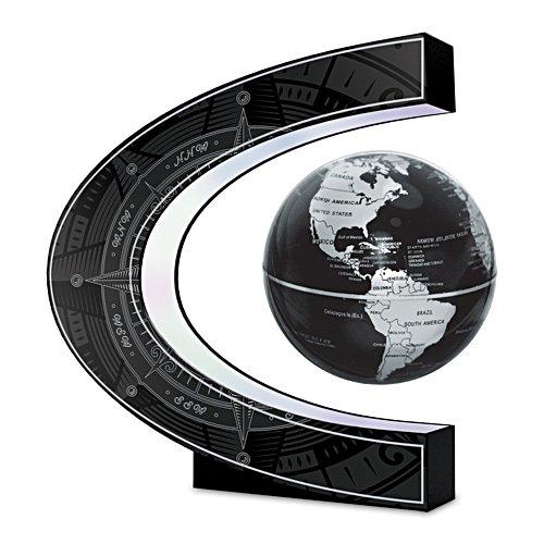 Levitating Globe With Illuminated Compass Base