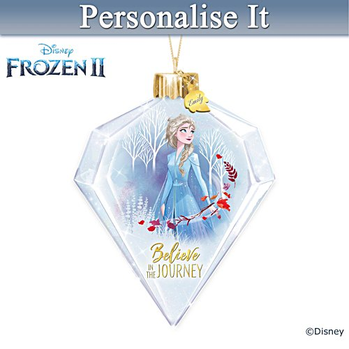 "Disney ""Believe In The Journey"" Elsa Personalised Ornament"