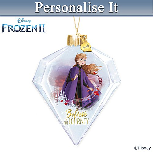 "Disney ""Believe In The Journey"" Anna Personalised Ornament"