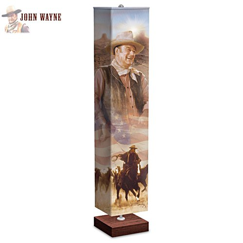 John Wayne Floor Lamp With Artwork Of Duke On The Shade