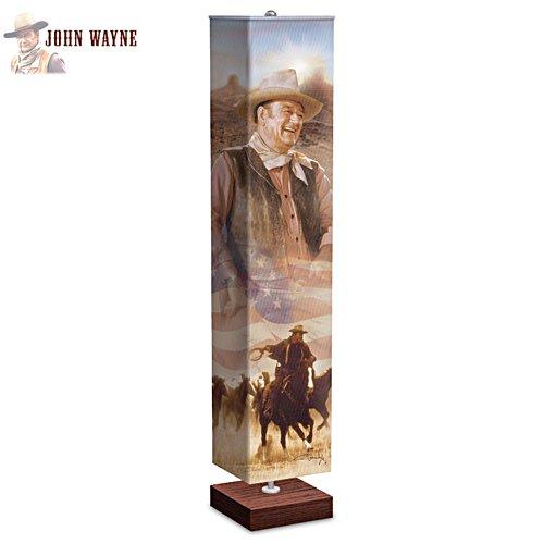 John Wayne Floor Lamp With Artwork Of Duke On The Shade