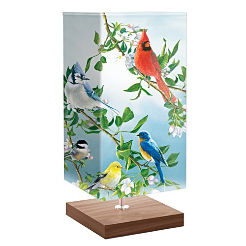 "James Hautman ""Treetop Friends"" Songbird Art Table Lamp"