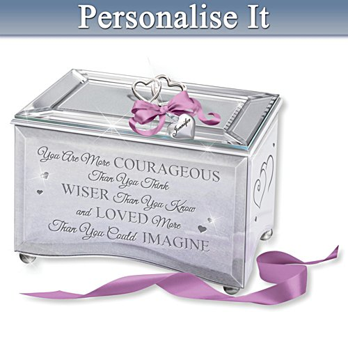 """Strength Of A Woman"" Granddaughter Personalised Music Box"