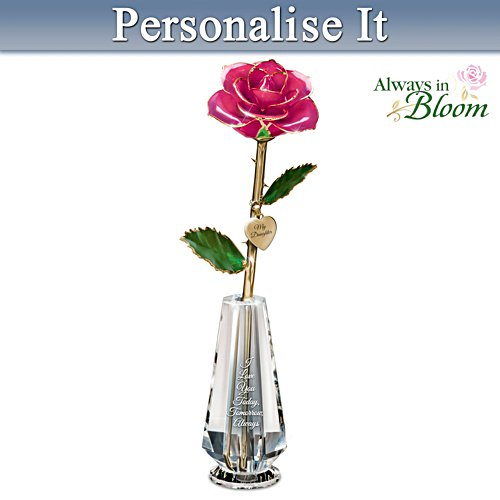"""My Precious Daughter"" Personalised Real Rose Centrepiece"