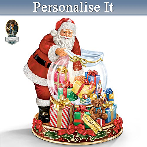 Thomas Kinkade Wishes Come True Personalised Snowglobe