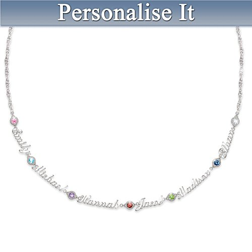 'Names That I Love' Personalised Birthstone Necklace