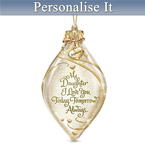 Illuminated Glass Ornament Personalised For Your Daughter