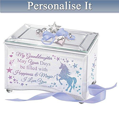 'My Granddaughter, Believe In Magic' Personalised Music Box