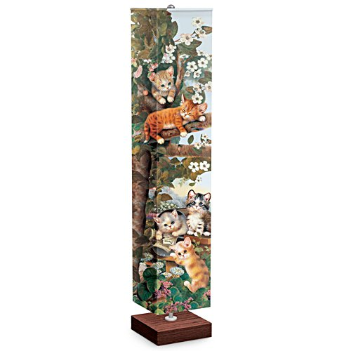 Jürgen Scholz Floor Lamp With Kitten Art On Four Sides
