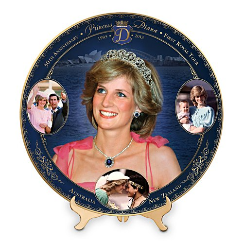 Princess Diana Plate with Gleaming 22K Gold Accents