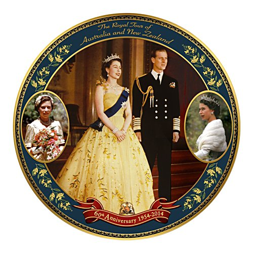 Royal Tour Anniversary Commemorative Collector Plate