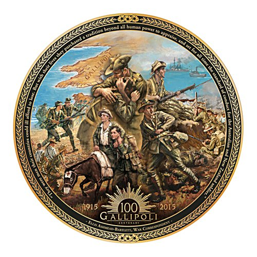 Gallipoli Centenary Commemorative Collector Plate