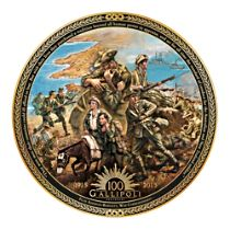 Gallipoli Centenary Plate with Satin-lined Presentation Box