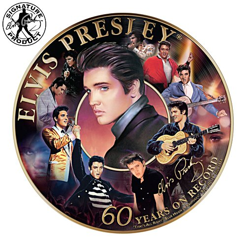 Elvis Presley on Record 60th Anniversary Commemorative Collector Plate