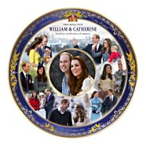 Royal Tour Commemorative Plate with 22K Gold Accents
