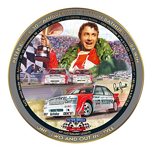 Peter Brock 1984 Bathurst Win Collector Plate