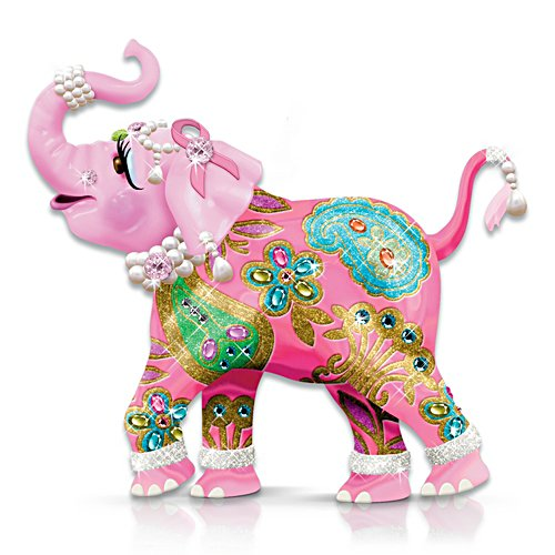 Reach High For Hope Pink Elephant Figurine