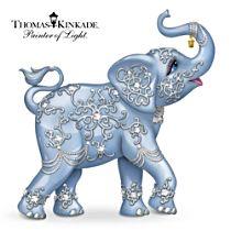 Thomas Kinkade Elephant Figurine With Swarovski Crystal