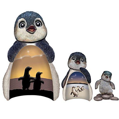 """Dive Into Life' Nesting Penguins Figurine Set"