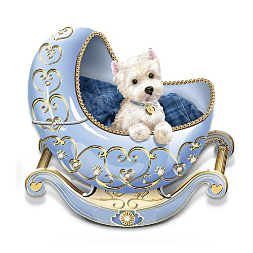 Adoring Eyes Westie Cradle Figurine