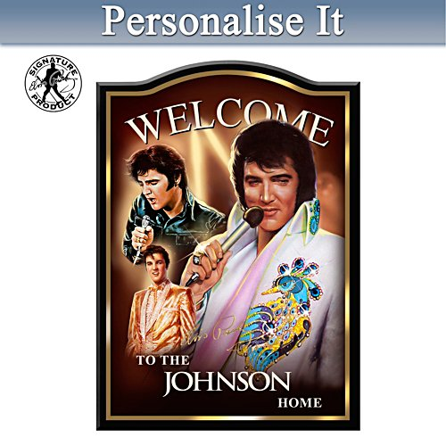 Elvis Presley Personalised Welcome Sign
