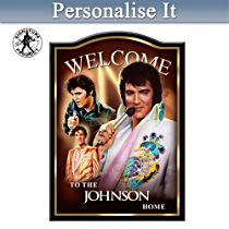 Elvis Presley™ Personalised Welcome Sign