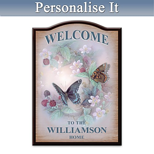 Lena Liu Butterfly Personalised Welcome Sign