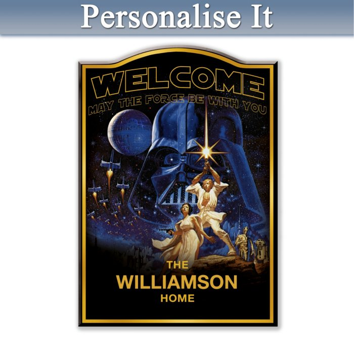 Star Wars Personalised Welcome Sign