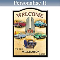 Holden Personalised Welcome Sign