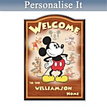 Mickey Mouse Personalised Welcome Sign
