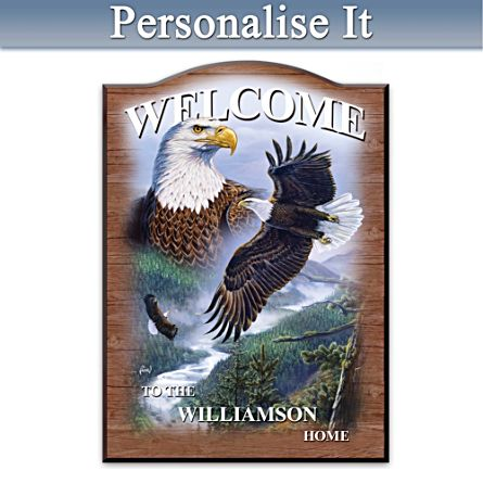 Al Agnew Eagle Personalised Welcome Sign