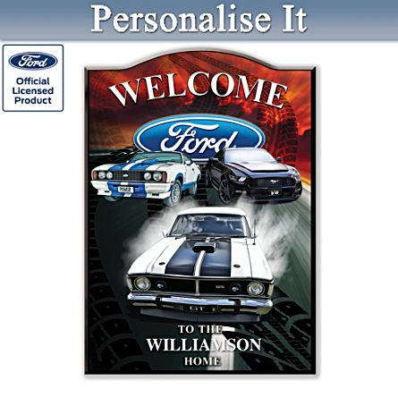 Ford GT Muscle Personalised Welcome Sign