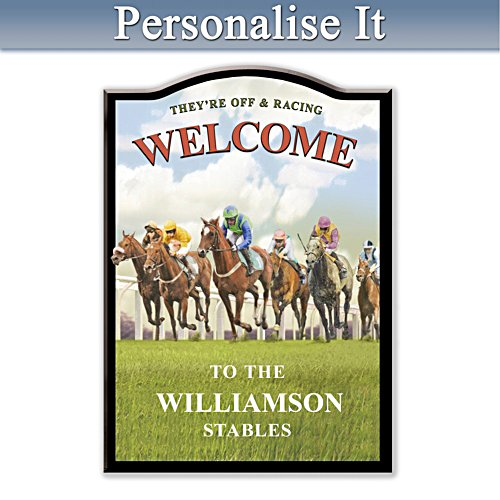 Horseracing Personalised Welcome Sign