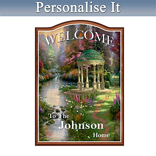 Thomas Kinkade Personalised Welcome Sign