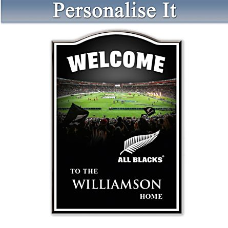 All Blacks Personalised Welcome Sign