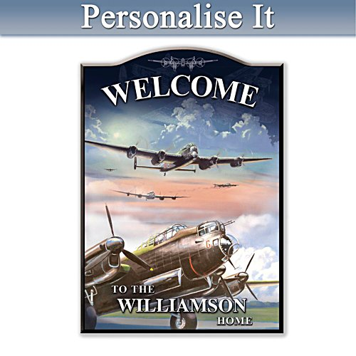 Lancaster Bomber Personalised Welcome Sign