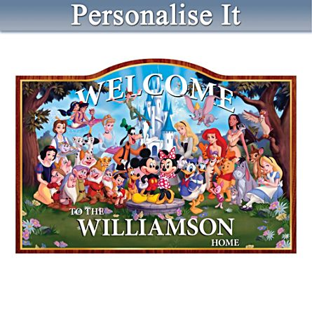 """""""Magic Of Disney"""" Personalised Welcome Sign"""